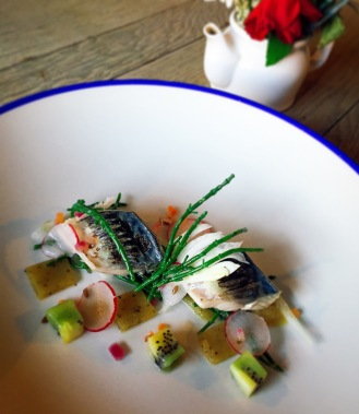 Mackerel Escabeche / Samphire / Fennel / Radish / Kiwi