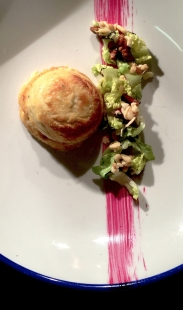 Twice Baked Blue Cheese Souffle/ Waldorf Salad