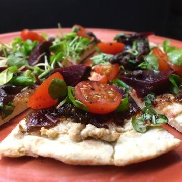 Vegan Pizza / Tomato / Basil / Cashew / Pickled Walnut / Red Onion Marmalade /