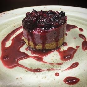 Vegan Winter Berry Cheesecake