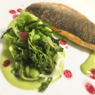 Bream / Fennel Tarragon Veloute / Gem / Samphire / Grape / Beetroot