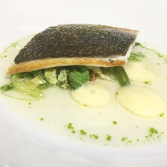Bream / Pak Choi / Chilli / Miso Broth / Champagne