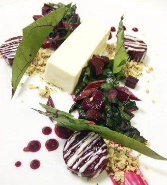 Beetroot / Feta and Horseradish Pannacotta / White Chocolate