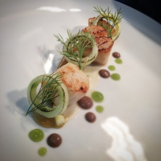 Scallop / Cucumber / Apple / Olive / Dil